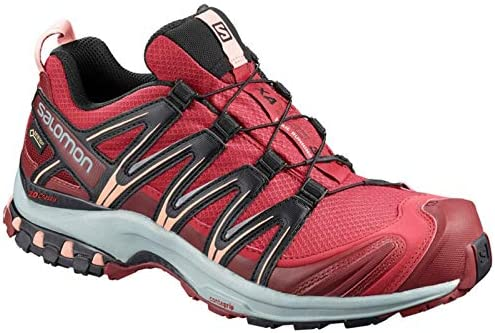 SALOMON XA Pro 3D GTX Gore-Tex W Womens Trail Running Shoes Size UK 5.5, Deep Claret/Syrah/Coral Almond - Rosa, 38 2/3: Amazon.es: Deportes y aire libre