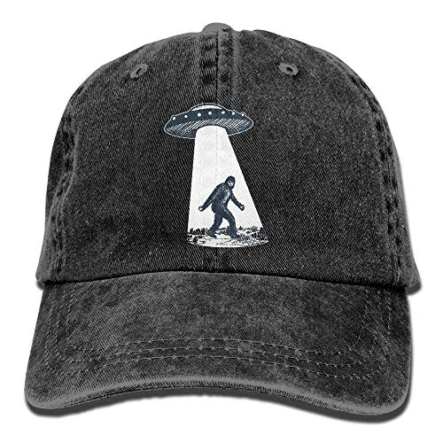 - NVJUI JUFOPL UFO Bigfoot Cotton Adjustable Cowboy Cap Gym Caps for Adult Black