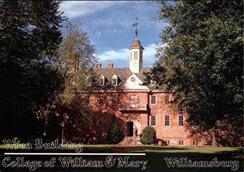 (Wren Building, College of William & Mary Williamsburg, Virginia Original Vintage Postcard)
