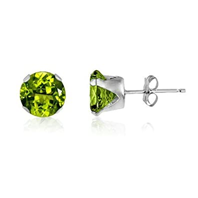 3MM Classic Brilliant Round Cut CZ Sterling Silver Stud Earrings - Choose From 13 Colours jvQRnDfx3X