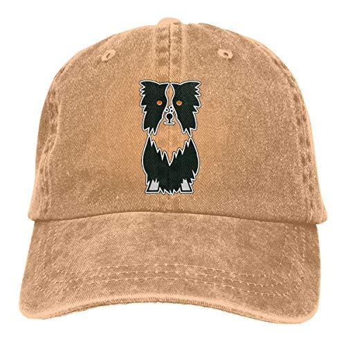 Border Collie Adult Vintage Washed Cap Fashion Adjustable Dad Hats