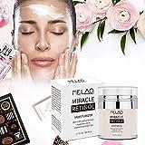 Melao Retinol Vitamin a cream With 2.5% Active Retinol Ati-wrinkle Face Cream With Hyaluronic Acid Vitamin E Retinol cream. Best Night and Day Moisturizer Cream 1.7 fl oz.