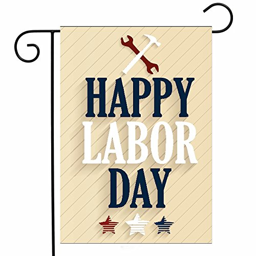 ShineSnow Happy Labor Day Stars Garden Yard Flag 12