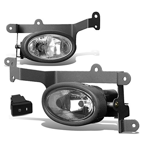 2006 2007 Honda Civic Coupe - For Honda Civic FG Coupe Pair of Bumper Driving Fog Lights w/Switch (Clear Lens)