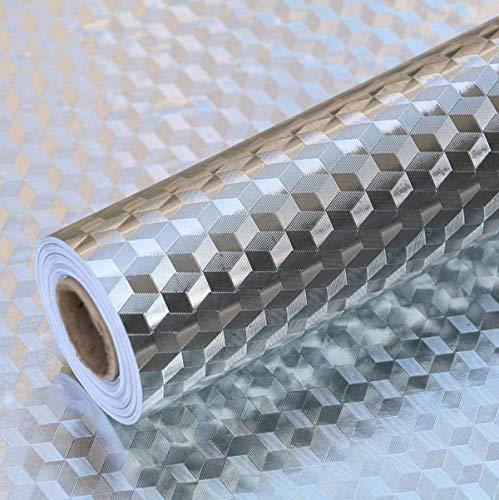 PINK PARI (LABEL) 2 m Aluminium Foil Stickers, Oil Proof, Kitchen Backsplash Wallpaper Self-Adhesive Wall Sticker Anti…