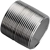 """Stainless Steel 304/304L Pipe Fitting, Close Nipple, Schedule 40 Welded, 1"""" NPT Male, 1-1/2"""" Length"""