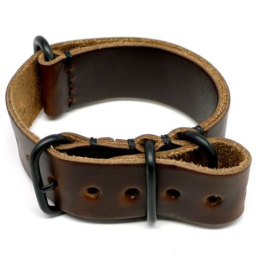 DaLuca NATO Watch Strap - Brown Chromexcel (PVD Buckle) : 26mm
