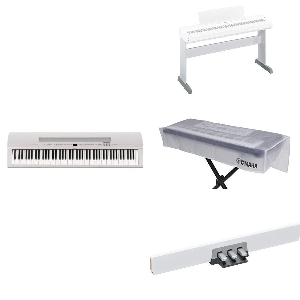 Yamaha P255 88-Key Professional Weighted Action Digital Piano with Sustain Pedal, White Yamaha PAC P255WH