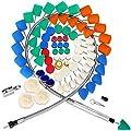 SPTA 78Pcs Mini Detail Polishing Tool Polishing Foam Pad Mix Size Kit, Used on Rotary tools/Polisher, Electric Drill for RMetal Aluminum, Stainless Steel, Chrome, Jewelry, Plastic, Ceramic, Glass, etc
