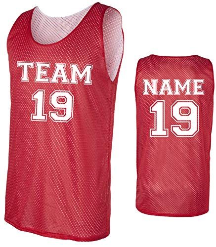 Custom Basketball Tank Tops- Make Your OWN Jersey - Personalized Team Uniforms (Red, Medium)