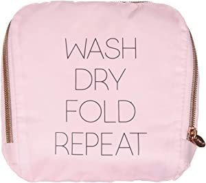 Miamica Travel Laundry Bag, Wash, Dry, Fold, Repeat