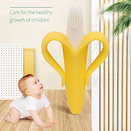 Yellow Infant Toddler Kids Training Teething Banana for Molars 2 x Pack Sunamy Safe Banana Toothbrush Baby Teether BPA Free