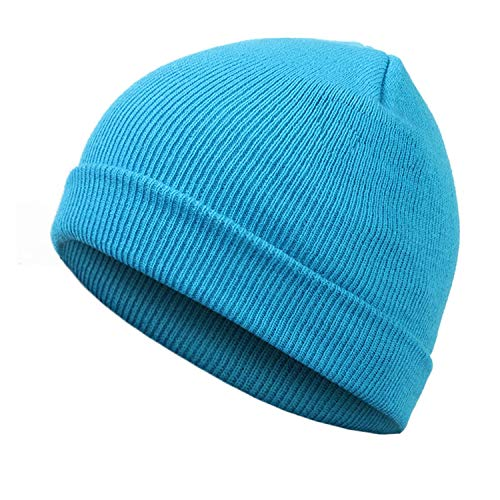 Fashion Solid Color Knit Beanies Hat Winter Hats Warm Man Woman Multiple Colour Skullies,Light Blue]()