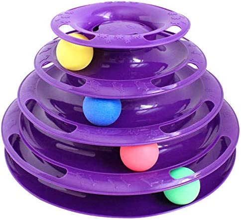 Purrfect Feline Titan's Tower - New Safer Bar Design, Interactive Cat Ball Toy, Exerciser Game, Teaser, Anti-Slip, Active Healthy Lifestyle, Suitable for Multiple Cats 3