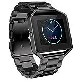 TIFENNY New Stailess Steel Watch Band For Fitbit Blaze Smart Watch BK