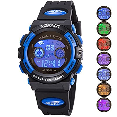 Kid Watch LED Sport 30M Waterproof Multi Function Digital Wristwatch for Boy Girl Children Gift from AXSPT