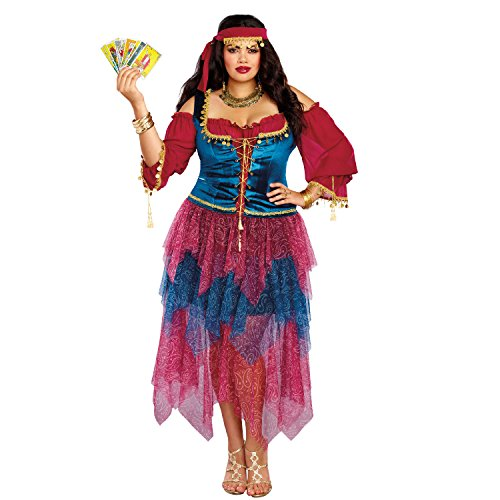 (Dreamgirl Women's Gypsy Plus Size, Multi,)