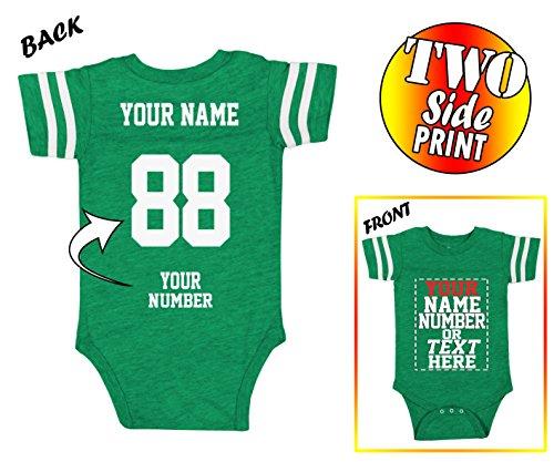 Tee Miracle Custom Jerseys For Babies - Make Your Own Jersey Onesie - Personalized Baby Onesies & Newborn - Custom Onesies