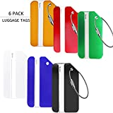 HOLLY TRIP Luggage Tags, Aluminium Bag Label Travel ID Identifier Labels Tag For Baggage Suitcase Bags,6 Pack