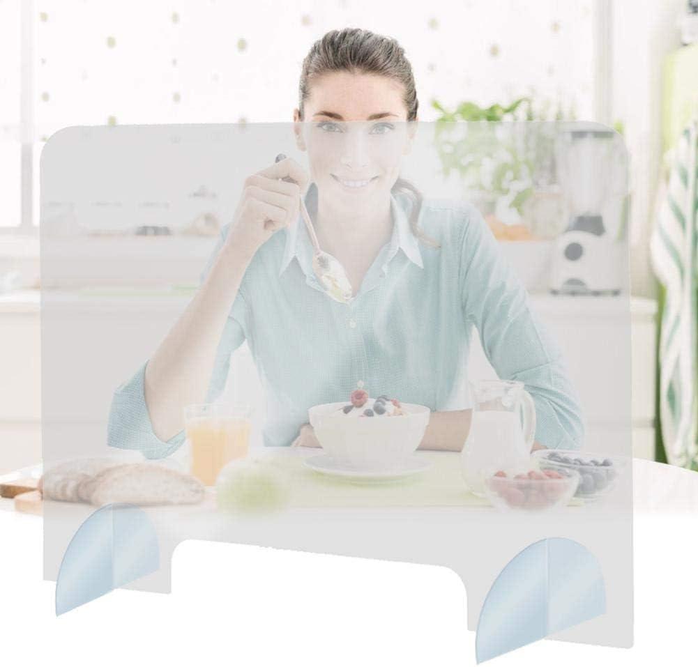 Partitions Mampara de protección - Mostrador, Oficina, Comercio, Restaurante - Metacrilato Transparente 40x40x0.5cm: Amazon.es: Hogar