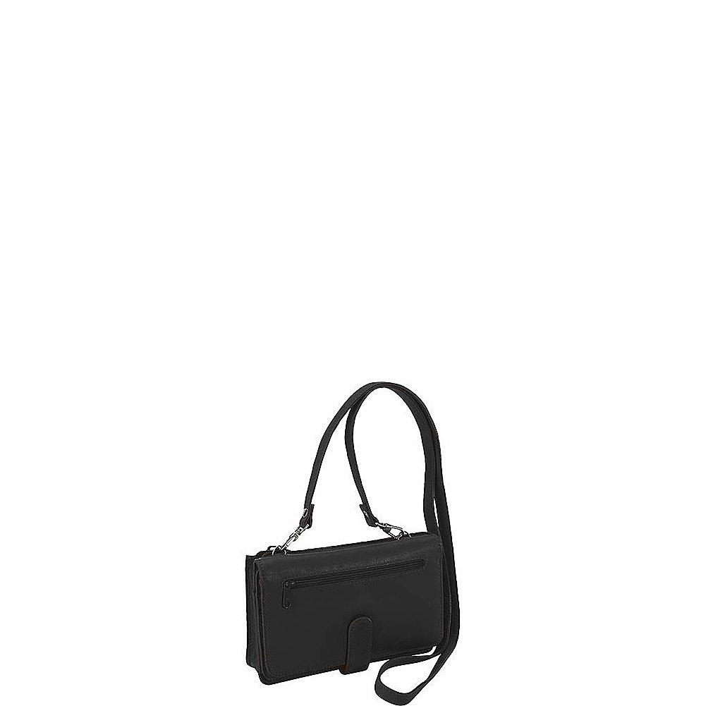 Derek Alexander Deluxe Clutch with Detachable Strap Messenger Bag, Black