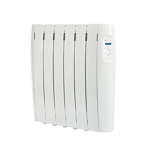 Haverland, RC6M, Radiador Digital Fluido Bajo Consumo, 750 de Potencia, 6 Elementos, Programable, Exclusivo Indicador De Consumo, Pantalla Temperatura ...