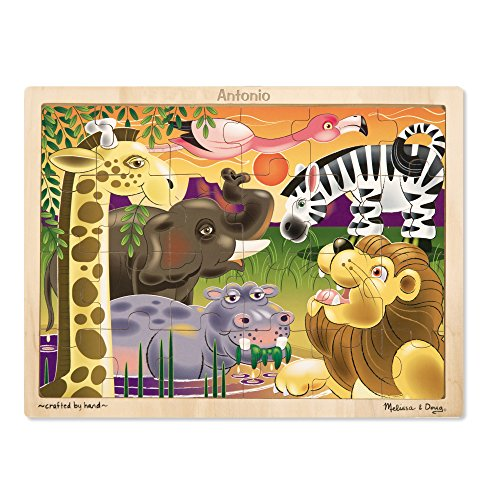 Melissa & Doug African Plains Safari Wooden Jigsaw Puzzle