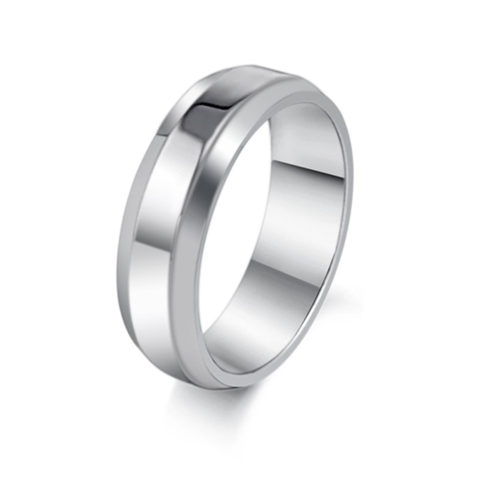 Brand New Amazing Simple Smooth Titanium Stainless Steel Wedding Band Set Men Jewelry Lovely Gift Ring for Men, Comfort Fit Size US Size 6-10