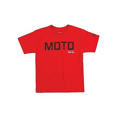 9e0936b318f88 Tee Shirt Moto Troy Le Designs - enfant - Rouge - Taille 12 ans ...