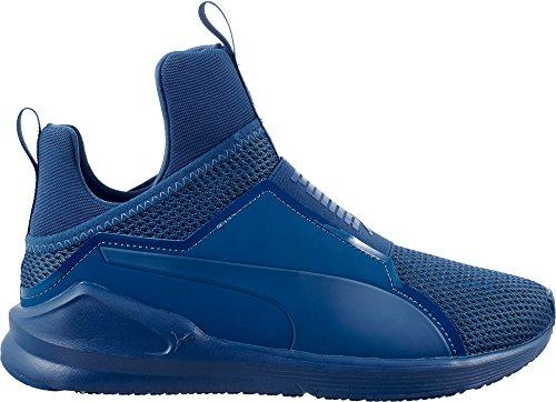 儀式チャレンジバーマドプーマ シューズ スニーカー PUMA Women's Fierce Knit Casual Shoes Blue [並行輸入品]