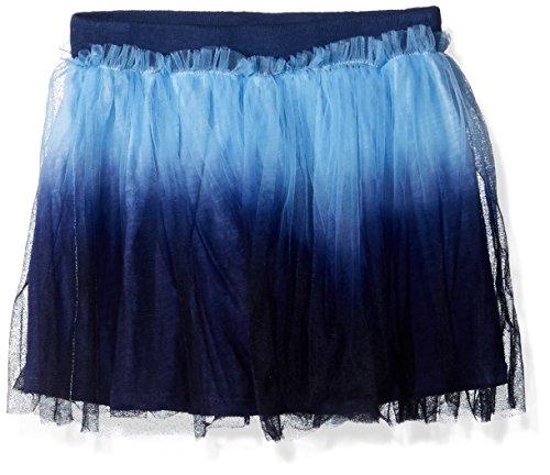 - Flapdoodles Girls' Little Dip Dye Tutu Skirt with Short Under, Blue 5