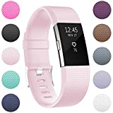 Fitbit Charge 2 Replacement Elastomer Bands, RedTaro Accessories Fitbit Charge 2 Heart Rate Fitness Wristbands Small Blush Pink