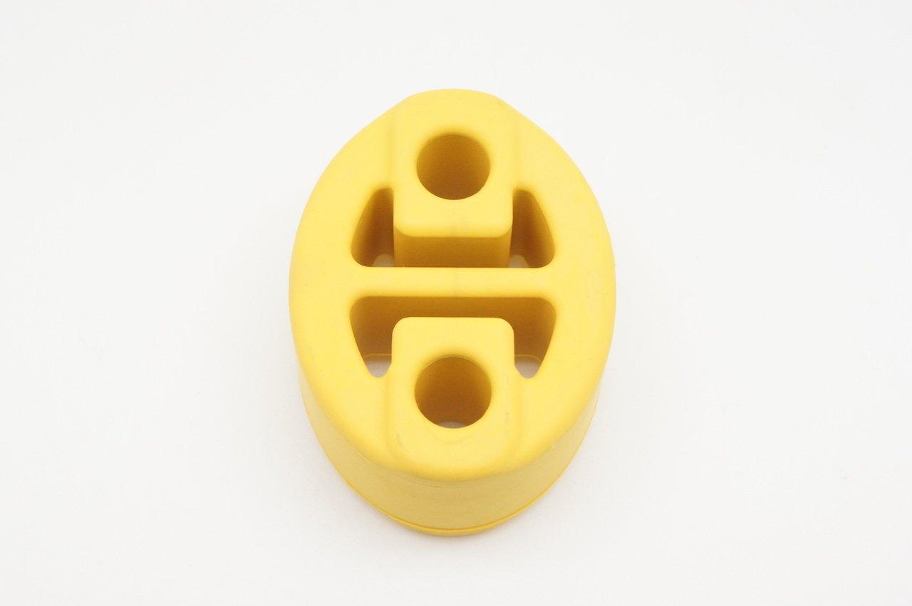 Autobahn88 universale scarico marmitta gancio boccola, 4 fori, dimensione di foro di 12mm (0,47') - giallo 47) - giallo