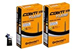 Continental 42MM OR 60MM Presta Valve Bicycle Tube Pack of 2 (2 Pack 42MM, 29 x 1.75-2.5cc)
