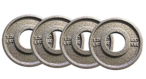 Hampton Fitness Precision Milled 1.25 lb Cast Iron Olympic Plates - Set of 4 - Fractional Weight Plates - HOG-1.25 by Ironcompany.com