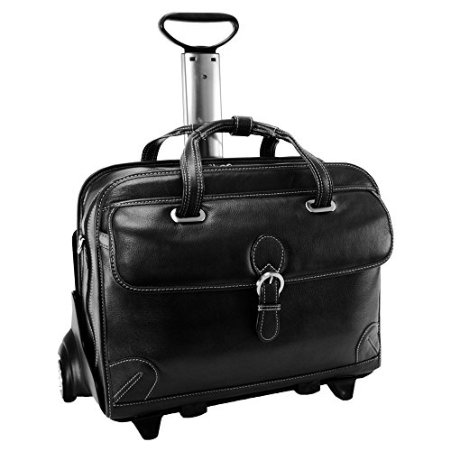 Siamod Carugetto Detachable-Wheeled Leather Laptop Case (Carugetto Wheeled Laptop Case)