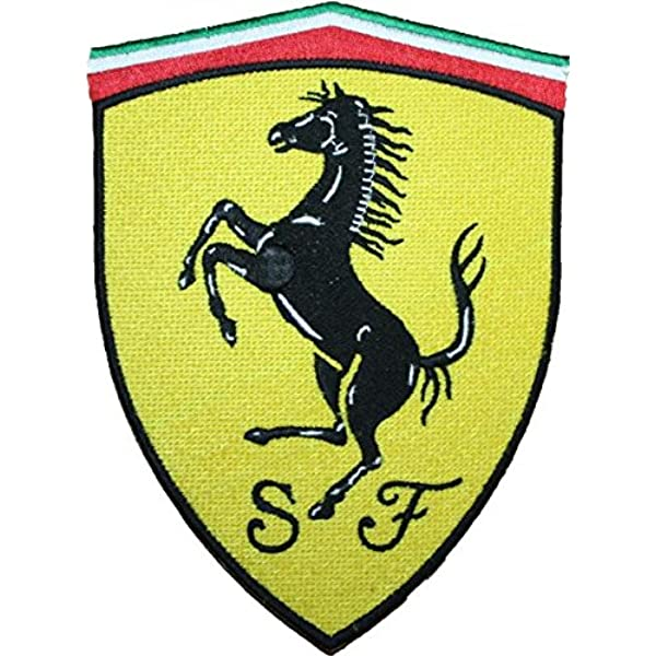25 Pcs Embroidered Iron on patches Ferrari Car Racing AP063fR1