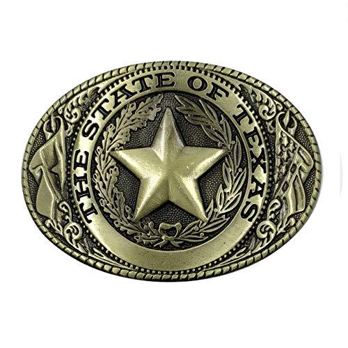 XGALA Oval Unisex Western Texas Cowboy Star Belt Buckle