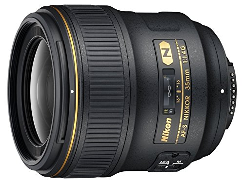 Nikon AF FX NIKKOR 35mm f/1.4G Fixed Focal Length Lens with Auto Focus for Nikon DSLR Cameras (Renewed)