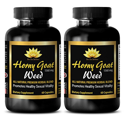 men sex drive booster - HORNY GOAT WEED - EPIMEDIUM 1560MG - ALL NATURAL  PREMIUM HERBAL BLEND - PROMOTES HEALTHY SEXUAL VITALITY - horny goat weed  herbal ...