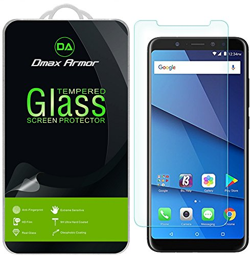 BLU Vivo XL3 Plus Screen Protector, [2-Pack] Dmax Armor Tempered Glass for BLU Vivo XL3 Plus with Lifetime Replacement