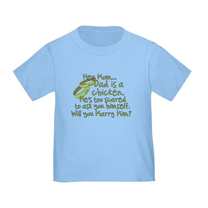 94b5f6b2 CafePress Will You Marry Daddy? Cute Toddler T-Shirt, 100% Cotton Baby