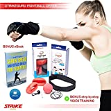 StrikeGuru - Boxing Reflex Fight Ball - Bonus E-Book - Step by Step Video Training - Pro training exercise for fitness, MMA, combat and fighting sports - with Headband and Gloves - for Kids and Adults