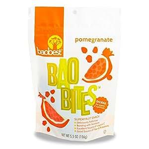 Baobest Baobites Super Fruit Snacks Pomegranate 5.5 Ounce