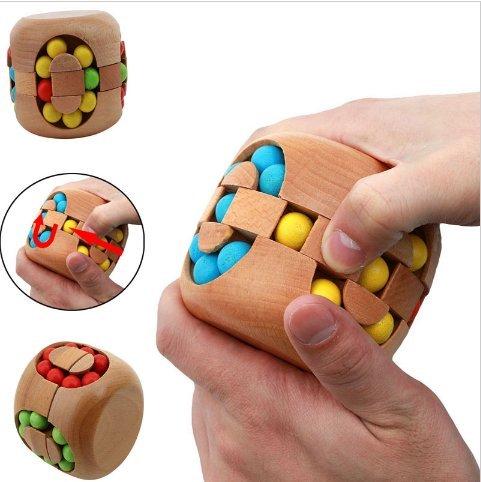 URToys Educational Brain Teaser Toy Intelligent China Kongming Lock Hamburg Magic Cube Jigsaw Puzzle Beech Wood Toys For Kids Birthday Christmas - How Big 60mm Is