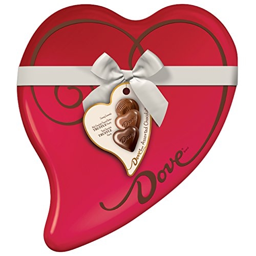DOVE Valentine's Assorted Chocolate Candy Heart Gift Box 8.13-Ounce Tin