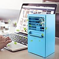 YOUDirect Personal Small Air Conditioner Fan 9.5-inch - Small Desktop Misting Fan Mini Evaporative Air Cooler Fan (Blue)