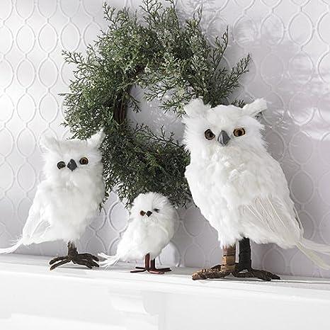 Shindigz Small White Feather Owls Christmas Decorations - Amazon.com: Shindigz Small White Feather Owls Christmas Decorations