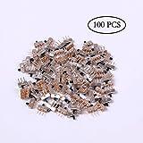 Teenitor 100 Pack SS-12D00G3 High Knob 3P 2 Position 1P2T SPDT Vertical Slide Switch, 0.5 Amp, 50V DC, 3 mm
