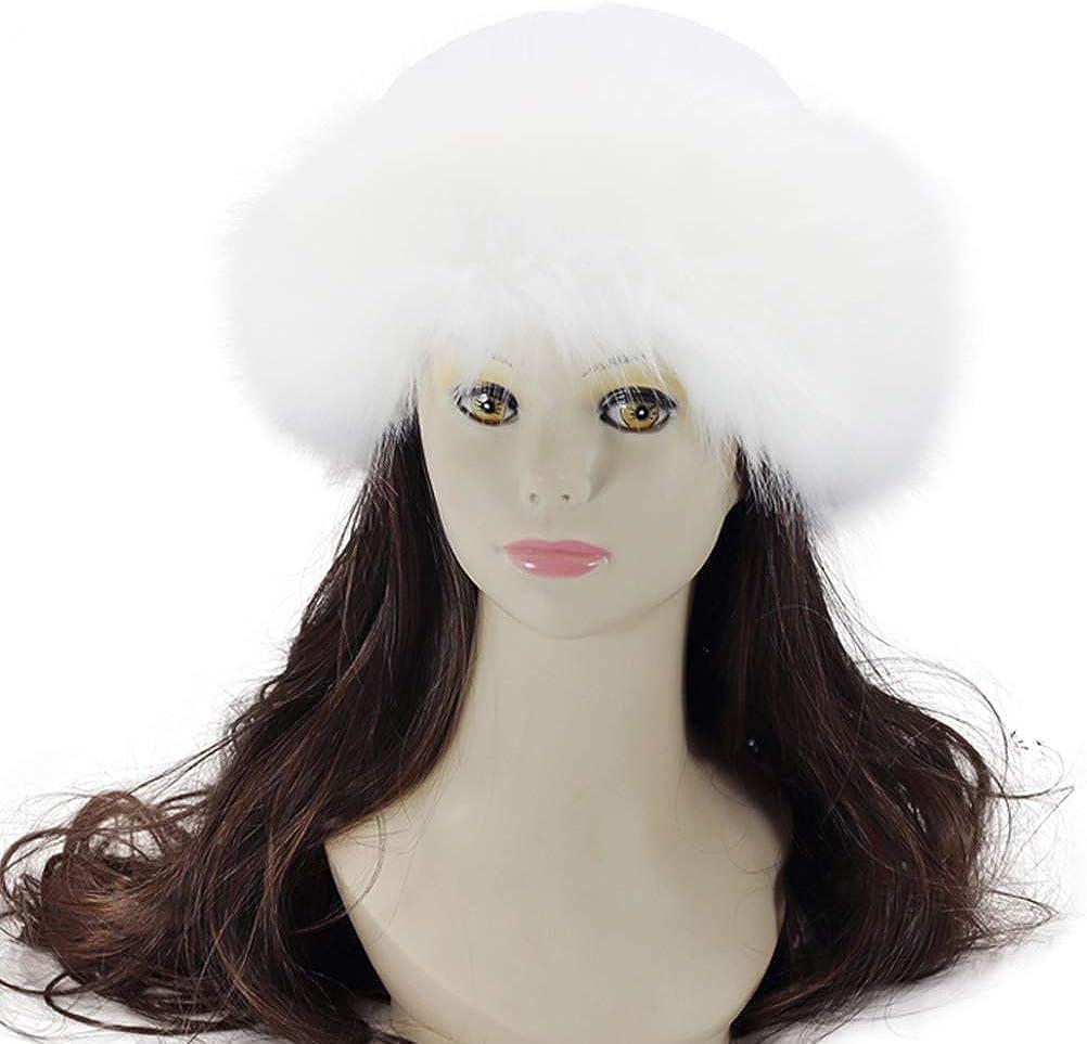 Faux Fur Hat Winter Warm...
